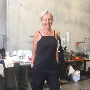 Fiona in the Women's Shed workshop